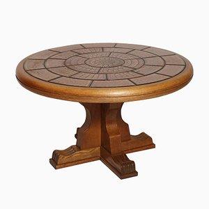 Tisch aus massivem Walnuss mit Keramikplatte, 1960er