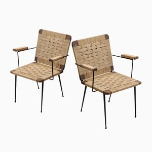 Rope Lounge Chairs by Giuseppe Pagano, 1940s, Set of 2