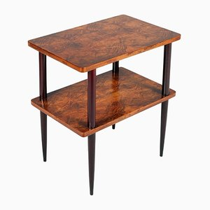 Art Deco Burl Walnut Side Table, 1930s