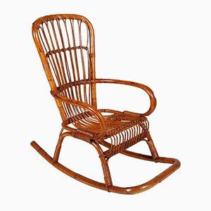 Rocking Chair Mid-Century en Bambou, Italie
