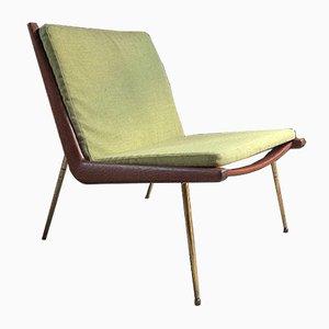 Green No.1 Boomerang Chair by Peter Hvidt & Orla Mølgaard-Nielsen for France & Søn, 1950s
