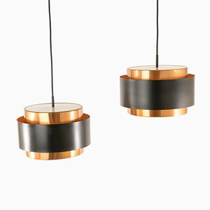 Saturn Pendants by Johannes Hammerborg for Fog & Mørup, 1960s, Set of 2