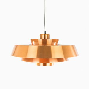 Copper Nova Pendant by Johannes Hammerborg for Fog & Mørup, 1960s