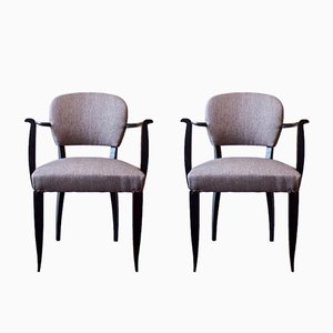 Upholstered Armchairs, 1930s, Set of 2