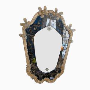 Espejo Mid-Century de cristal de Murano