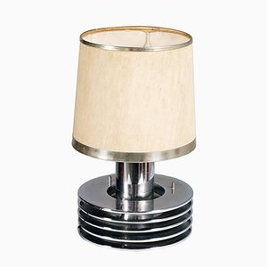 Mid-Century Chromed Steel Table Lamp