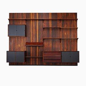 Mueble modular de pared grande de palisandro de Poul Cadovius para Cado, años 60