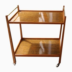 Mid-Century Beech & Walnut Trolley