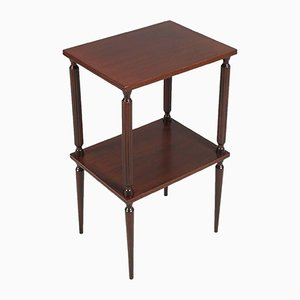 Mid-Century Mahogany Modern Side Table