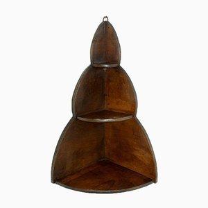 Mensola ad angolo in legno, anni '50