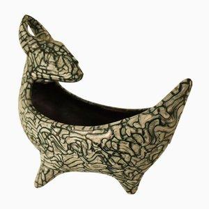 Cuenco decorativo de cerámica de Geza Gorka, años 40