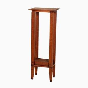 Pedestal vintage de nogal, años 40