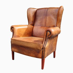 Vintage Italian Leather Lounge Chair