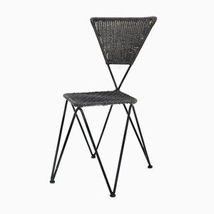 Wicker Garden Chair by Karl Fostel Sen's Erben for Sonett, 1950s