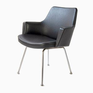 Black Skai Armchair, 1960s