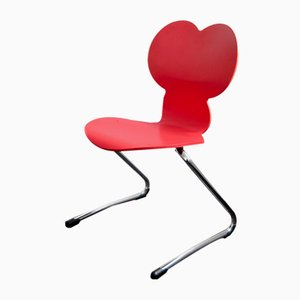 Sedia da bambino modello Pantoflex MM Mickey Mouse rossa di Verner Panton per VS Vereinigte Spezialmöbelfabriken, 1994
