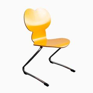 Chaise pour Enfant Modèle Pantoflex MM Mickey Mouse Jaune par Verner Panton pour VS Vereinigte Spezialmöbelwerkstätten, 1994