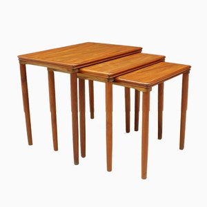 Danish Teak Nesting Tables by E. W. Bach for Møbelfabrikken Toften, 1960s