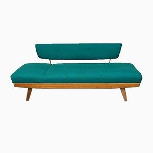Sofá cama turquesa, años 60
