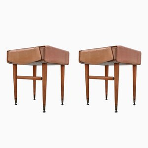 Mid-Century Italian Maple Bedside Tables, 1950s, Set of 2