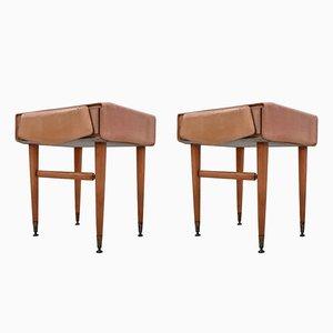 Tables de Chevet Mid-Century en Érable, Italie, 1950s, Set de 2