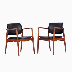 Captain Armchairs by Erik Buch for Ørum Møbelfabrik, 1967, Set of 2
