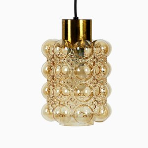 Brass & Glass Bubble Pendant Lamp by Helena Tynell for Limburg, 1960s