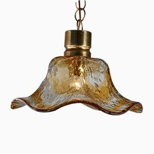 Lámpara colgante en forma de falda de cristal de Murano, años 70