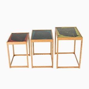 Tavolini ad incastro di David Rosén & Egon Møller-Nielsen per Nordiska Kompaniet, anni '50
