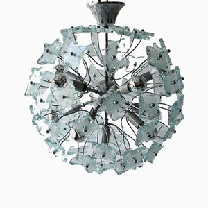 Glass Chandelier, 1960s