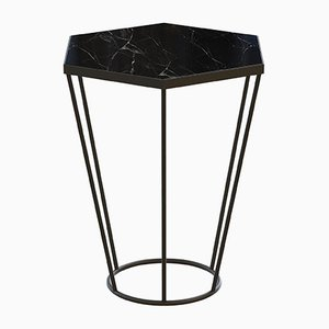 SEI Side Table with Black Marble by Alex Baser for MIIST