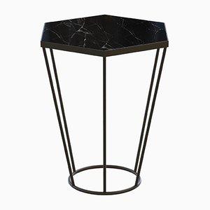 Tavolino da caffè SEI con ripiano in marmo nero di Alex Baser per MIIST