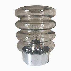 Glas Tischlampe, 1970er