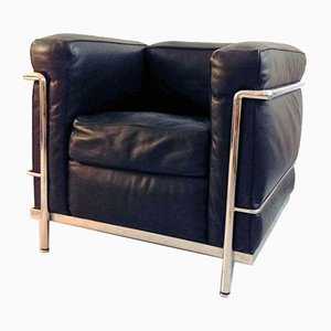 LC2 Leder Sessel von Le Corbusier für Cassina, 1970er, 2er Set