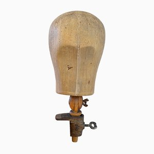 Art Deco Wooden Head with Mount, 1930s
