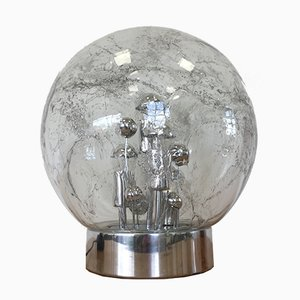 Grande Lampe de Bureau Space Age en Chrome de Doria Leuchten, 1970s