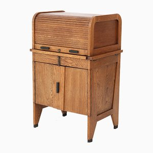 Art Deco Hague School Tambour Secretaire from Allan & Co., 1920s