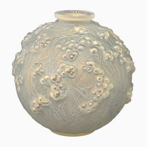 Art Deco Opalescent Druide Vase by René Lalique, 1924