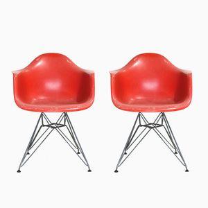Vintage DAR Armlehnstühle von Charles & Ray Eames für Vitra, 2er Set