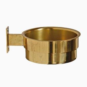Porta vasi da parete o posacenere in ottone idi Hans-Agne Jakobsson per Markaryd, anni '60