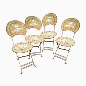 Painted Garden Metal Chairs, 1960s, Set of 4