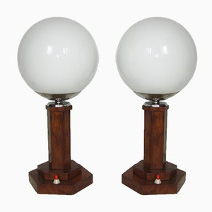 Art Deco Table Lamps, 1930s, Set of 2