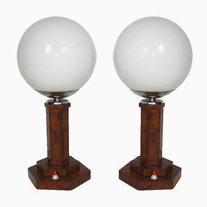 Lámparas de mesa Art Déco, años 30. Juego de 2