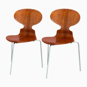 Mid-Century Rosewood Ant Chairs by Arne Jacobsen for Fritz Hansen, Set of 2