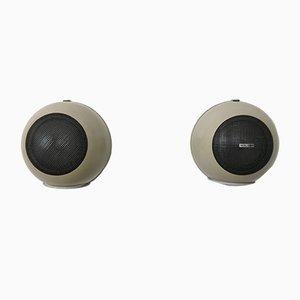 Runde Wand Lautsprecher von Bouyer, 1970er, 2er Set