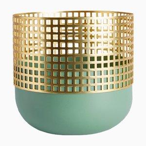 Medium Mia Vase in Olivgrün von Serena Confalonieri für Mason Editions