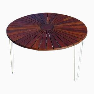 Mesa de jardín de teca, años 50