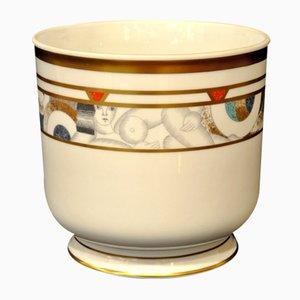 Powdered Porcelain Gold Planter from Bernardaud, 1970s