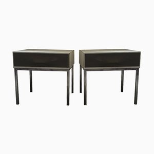 Bedside Tables by Raymond Loewy, 1970s, Set of 2