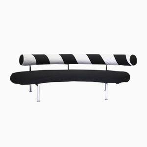 Sofa in Schwarz & Weiß von Antonio Citterio für Flexform, 1980er